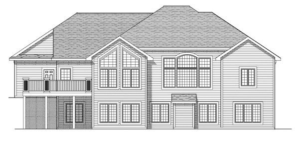 Traditional House Plan 97377 Rear Elevation