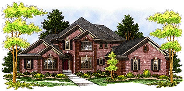 Tudor House Plan 97379 Elevation