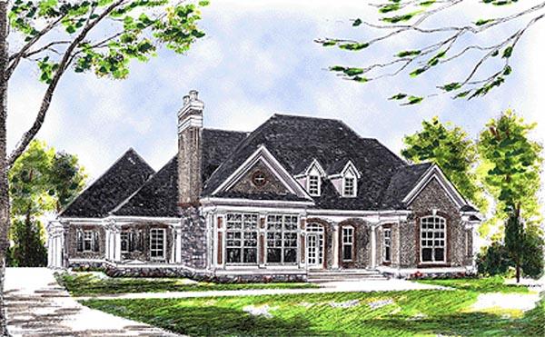 European House Plan 97380 Elevation
