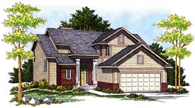 Contemporary Country House Plan 97381 Elevation