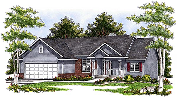 One-Story , Ranch , Elevation of Plan 97382