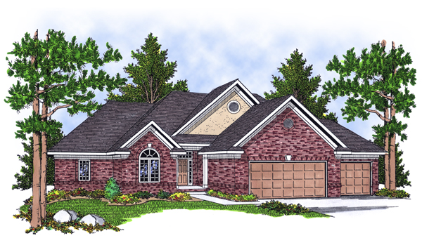 European Traditional House Plan 97383 Elevation