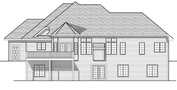 European Traditional House Plan 97383 Rear Elevation