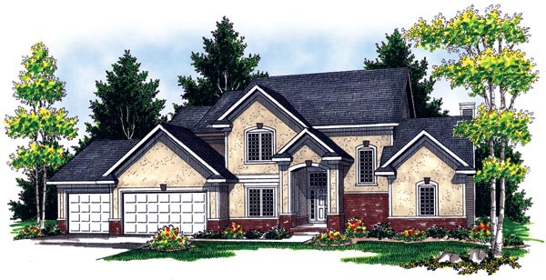 Bungalow, Traditional House Plan 97385 with 4 Beds, 3 Baths, 3 Car Garage Elevation