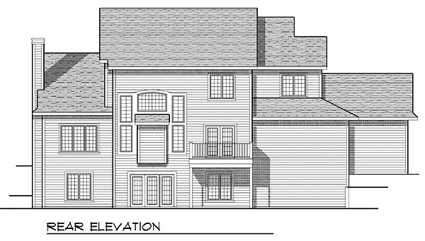 Bungalow Traditional House Plan 97385 Rear Elevation
