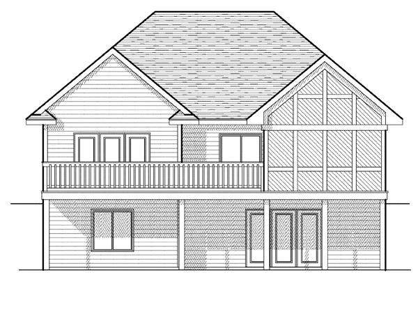 European House Plan 97386 Rear Elevation