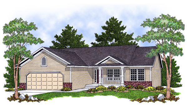 Ranch House Plan 97387 Elevation