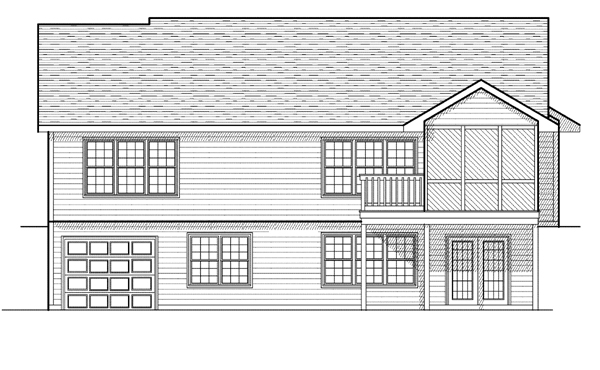 Ranch House Plan 97387 Rear Elevation