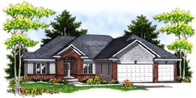 Traditional House Plan 97388 Elevation