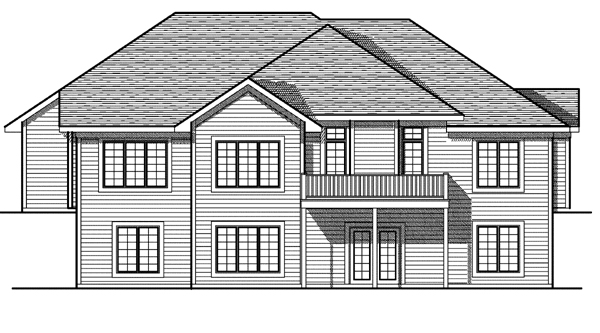 Traditional House Plan 97388 Rear Elevation
