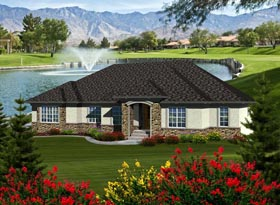 Ranch House Plan 97390 Elevation