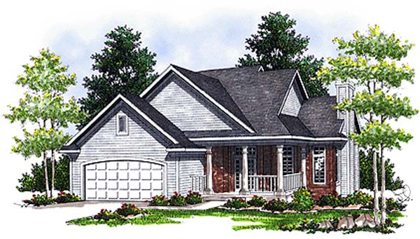 House Plan 97391 | Country Style Plan with 1817 Sq Ft, 4 Bedrooms, 4 Bathrooms, 2 Car Garage Elevation