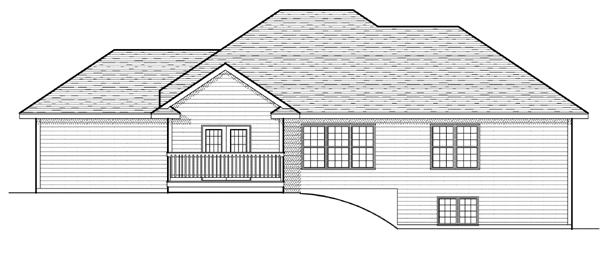 Traditional House Plan 97392 Rear Elevation