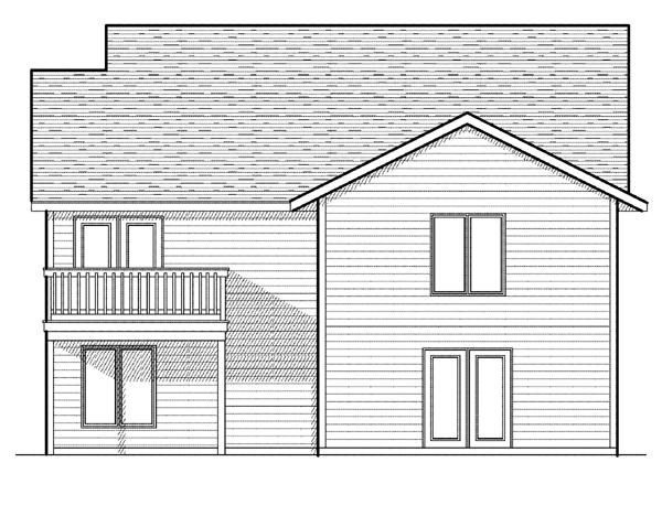 Bungalow House Plan 97393 Rear Elevation