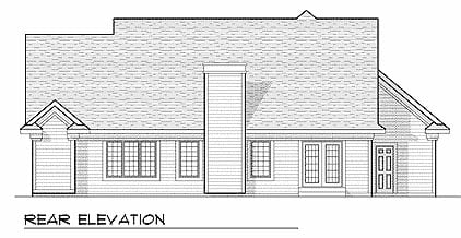 Traditional House Plan 97395 Rear Elevation