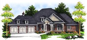 Bungalow European House Plan 97396 Elevation
