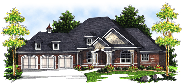 Bungalow European House Plan 97396 Elevation