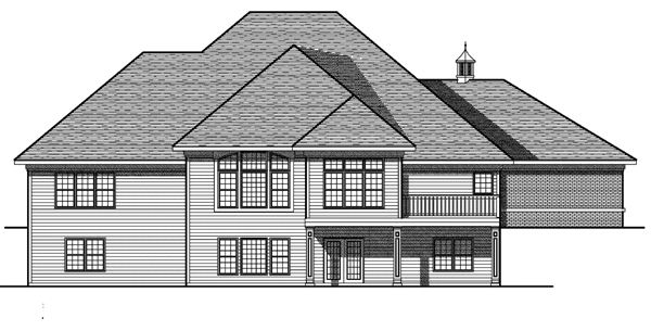 Bungalow European House Plan 97396 Rear Elevation