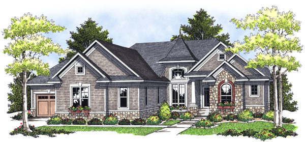 Bungalow European House Plan 97397 Elevation