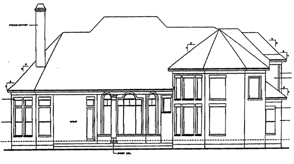 European Victorian House Plan 97400 Rear Elevation