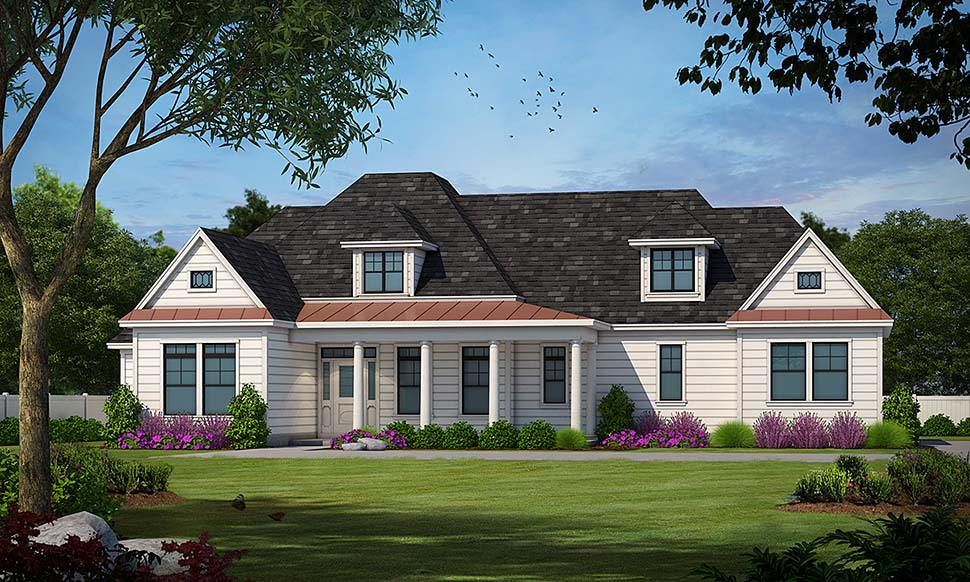 European House Plan 97406 with 4 Beds, 3 Baths, 2 Car Garage Front Elevation
