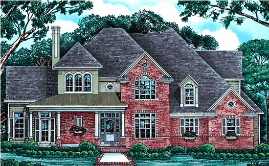 European Farmhouse Victorian House Plan 97408 Elevation