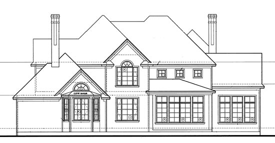 European Farmhouse Victorian House Plan 97408 Rear Elevation
