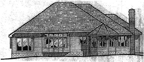 European House Plan 97410 Rear Elevation