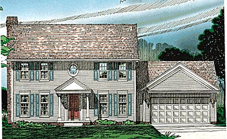 Colonial House Plan 97411 Elevation
