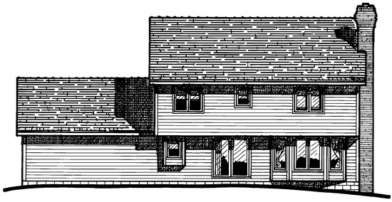 Colonial House Plan 97411 Rear Elevation