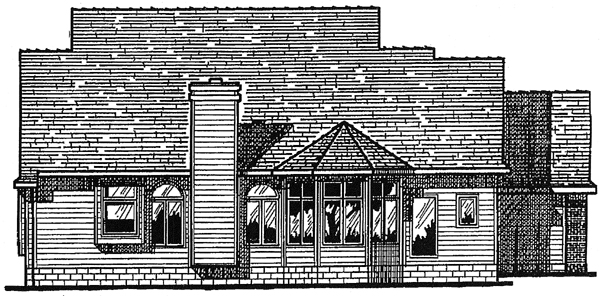 Colonial House Plan 97412 Rear Elevation