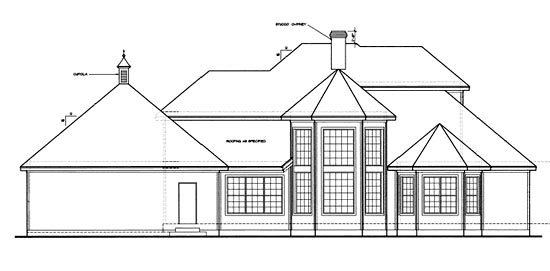 European House Plan 97420 Rear Elevation