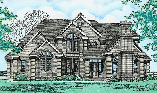 Tudor House Plan 97422 Elevation