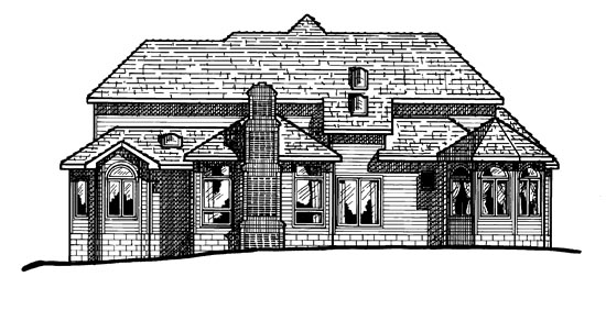 Tudor House Plan 97422 Rear Elevation