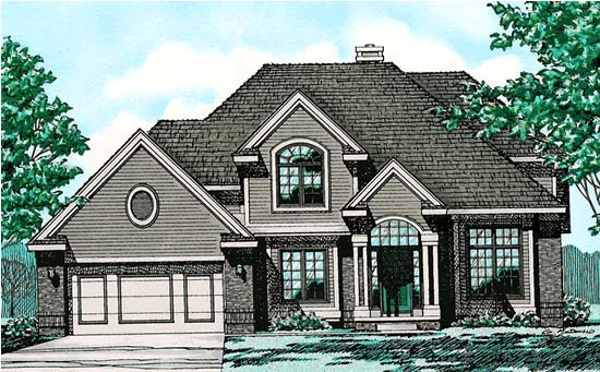 European House Plan 97423 Elevation