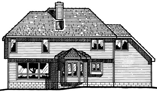 European House Plan 97423 Rear Elevation