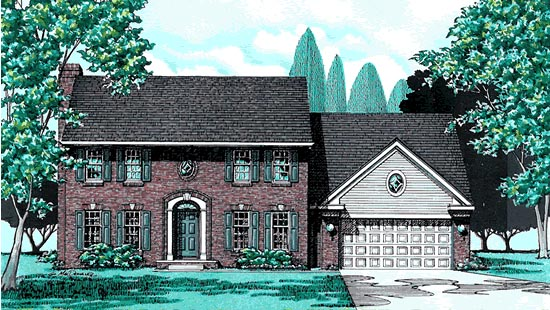 Colonial House Plan 97424 Elevation