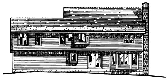 Colonial House Plan 97424 Rear Elevation