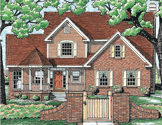 Farmhouse Victorian House Plan 97430 Elevation