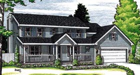 Colonial Country House Plan 97433 Elevation