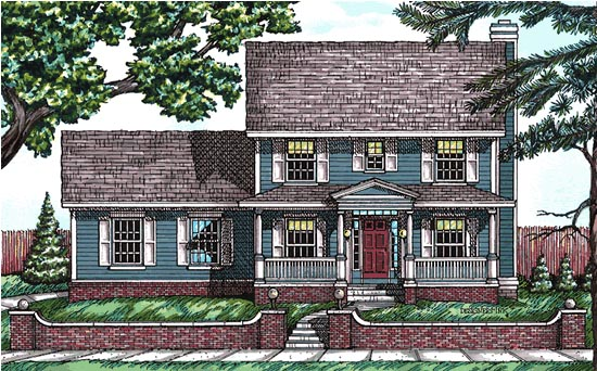 Colonial Country House Plan 97435 Elevation