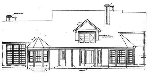 Tudor House Plan 97436 Rear Elevation