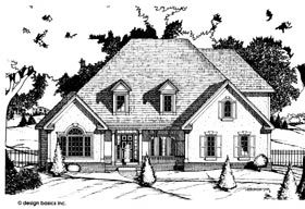 House Plan 97438 | European Style Plan with 2512 Sq Ft, 4 Bedrooms, 3 Bathrooms, 2 Car Garage Elevation