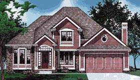 European House Plan 97440 with 4 Beds, 3 Baths, 2 Car Garage Elevation