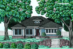 Southwest Traditional House Plan 97442 Elevation