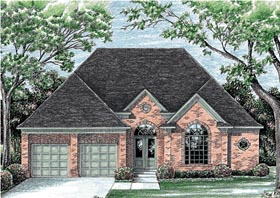 European House Plan 97446 Elevation