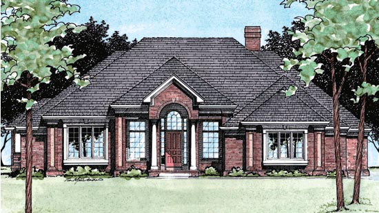 Colonial European House Plan 97447 Elevation