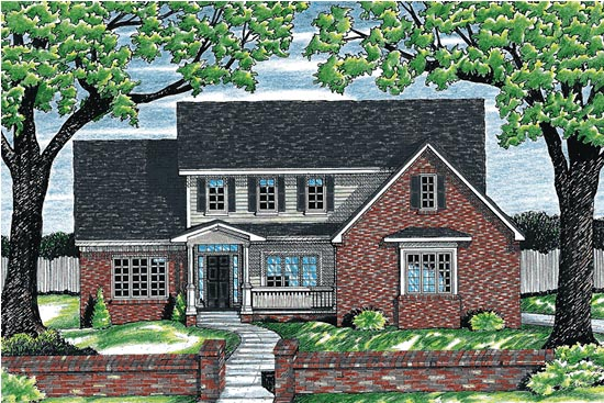 Colonial Country House Plan 97450 Elevation
