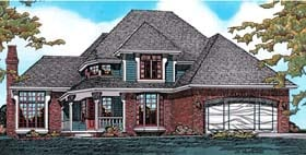 House Plan 97453 | Farmhouse Victorian Style Plan with 2276 Sq Ft, 4 Bedrooms, 3 Bathrooms, 2 Car Garage Elevation