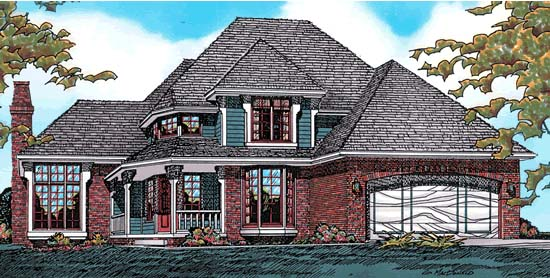 Farmhouse Victorian House Plan 97453 Elevation